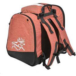 Kulkea Powder Trekker 52L Ski Boot Bag – Coral/White/Natural