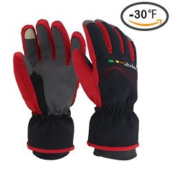 Men's Women's Skiing Gloves – Waterproof Windproof Winter Gloves, Thermal Warm Gloves, Tou ...