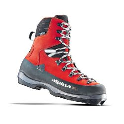 Alpina Sports Alaska Leather Backcountry Cross Country Nordic Ski Boots, Euro 42, Red