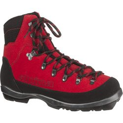 Alpina Sports Wyoming Leather Backcountry Cross Country Nordic Ski Boots, Red/Black, Euro 46