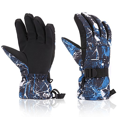Ski Gloves, Yidomto Waterproof Warmest Winter Snow Gloves