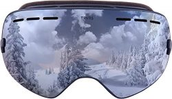 Traverse Virgata Ski, Snowboard, and Snowmobile Goggles, River Rock with Polarized Mirror Lens