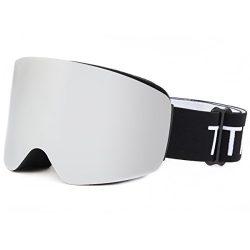 TTIO Ski Goggles-Cylindric OTG Anti-Fog UV Protection Super Spherical Lens Interchangeable Helme ...