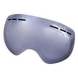 LITFAD Ski Snowboard Revo OTG Goggles – Frameless Anti-fog 100% UV400 Protection Magnet De ...