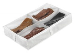 Whitmor Underbed Boot Bag, 4 Section