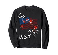 Unisex Freestyle skiing Ski Sport Go USA Sweatshirt Large Black