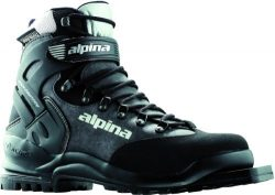 Alpina BC 1575 Back-Country Nordic Cross-Country Ski Boots with 3-Pin Soles, Black/Silver, 44
