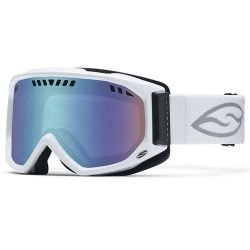 Smith Optics Adult Scope Snow Goggles White Frame/Blue Sensor Mirror
