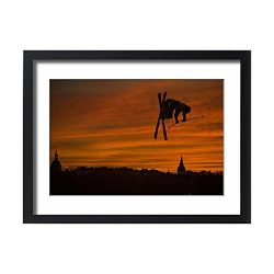 Media Storehouse Framed 24X18 Print Of Ski-Freestyle-France (14083865)