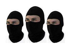 3 Pack -Thin Cotton Spandex Motorcycle Balaclava Face Mask, Premium Quality, Helmet Liner, Ski M ...