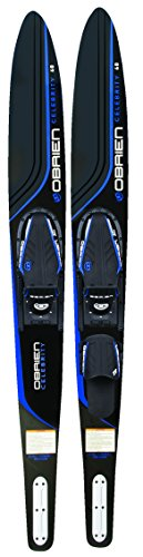 O'Brien Celebrity Combo Water Skis with x-7 Bindings, Blue, 68″