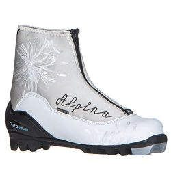 Alpina Women's T20 Eve Cross-Country Nordic Touring Ski Boots with Zippered Lace Cover, Si ...