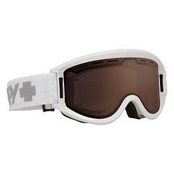 Spy Optic Getaway 313162632069 Snow Goggles, One Size (White Frame/Bronze Lens)