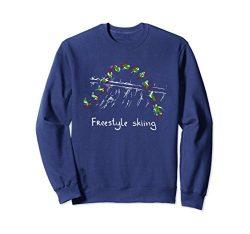 Unisex Freestyle skiing Ski Sport Sweatshirt 2XL Navy