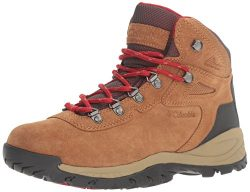 Columbia Women's Newton Ridge Plus Waterproof Amped Hiking Boot, Elk, Mountain Red, 9 B US