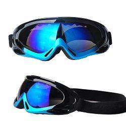 Feier Yusi Adult Professional Ski Goggles Snowmobile Snowboard Skate Snow Skiing Goggles with 10 ...