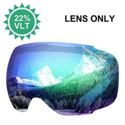 ENKEEO Ski Goggles Replacement Lenses Anti-fog 100% UV400 Protection for Skiing Snowboarding Sno ...