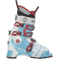 Scott Minerva 75mm Telemark Boot – Women's Bermuda Blue/White, 24.5