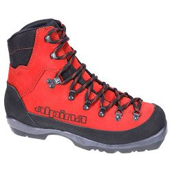 Alpina Sports Wyoming Leather Backcountry Cross Country Nordic Ski Boots, Red/Black, Euro 38