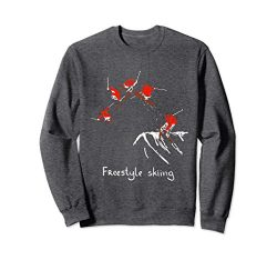 Unisex Freestyle skiing Ski Sport Sweatshirt Small Dark Heather