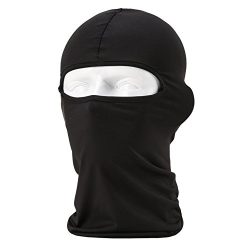 Lycra Fabrics Ski Face Mask Motorcycle Cycling Bike Bandana Hiking Skateboard Balaclava (black)