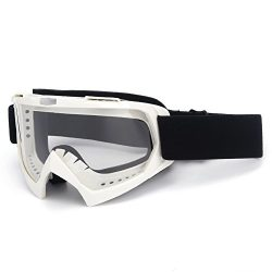 Motorcycle Goggles,Sposune ATV Dirt Bike Off Road Racing MX Riding Goggle Anti-Scratch Dustproof ...