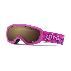 Giro Chico Youth Snow Goggles Berry / Magenta Butterflies / Amber Rose
