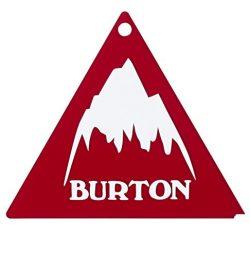 Burton Tri Scraper Snowboard Ski Tuning Waxing Tool Translucent Red