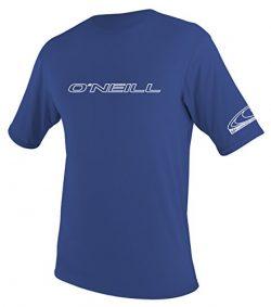 O'Neill Men's Basic Skins UPF 50+ Short Sleeve Sun Shirt, Pacific, Medium