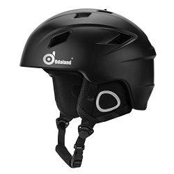 Odoland Ski Helmet, Unisex Adult Snow Sports Helmet for Men & Women, Shockproof & Ski Go ...