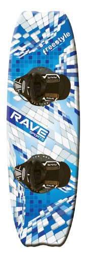 Rave Freestyle Wakeboard with Camo Boots (Blue/Black)