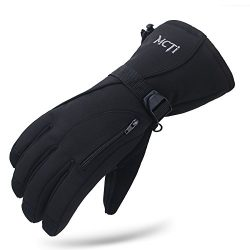 MCTi Waterproof Mens Ski Gloves,Winter Warm 3M Thinsulate Snowboard Snowmobile Cold Weather Glov ...
