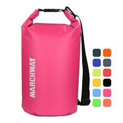 MARCHWAY Floating Waterproof Dry Bag 5L/10L/20L/30L, Roll Top Dry Sack for Boat, Ski, Beach, Pad ...