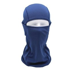Chartsea Tactical Motorcycle Cycling Hunting Outdoor Ski Full Face Mask Helmet (Navy)