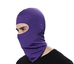 Ganway GAMWAY Ski Mask Balaclava Hood Skullies Beanies Outdoor Sports Cycling Hat (Purple)
