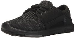 Etnies Women's Scout YB W's Skate Shoe, Black/Grey/Black, 7.5 Medium US
