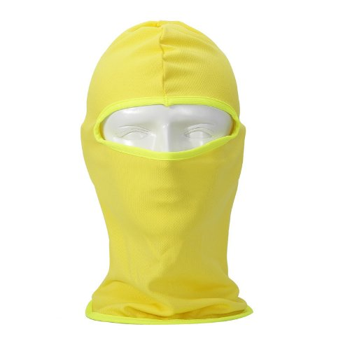 NewNow Candy Color Ultra Thin Ski Face Mask Under A Bike / Football Helmet -Balaclava (Yellow)