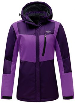 Wantdo Women's Hooded Waterproof Fleece Parka Outdoor Mountaineering Windproof Ski Jacket  ...
