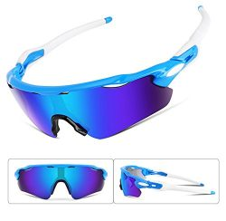 FEISEDY Polarized Sports Sunglasses REVO Changeable Lenses TR90 Frame Cycling B2280