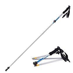 Wealers Folding Hiking Sticks collapsible Alpenstocks Ultralight Trekking Ski Pole Travel Hiking ...