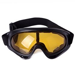 HDE Outdoor Winter Sports Snowmobile Ski Goggles Snowboarding Protective Eyewear with Scratch Re ...