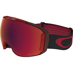 Oakley Airbrake XL Asian Fit Snow Goggles, Obsessive Lines Red Frame, Prizm Torch Iridium Lens,  ...