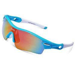 Cycling Sunglasses-Carfia TR90 Sports Sunglasses UV400 Protection Goggles Polarized Sunglasses w ...