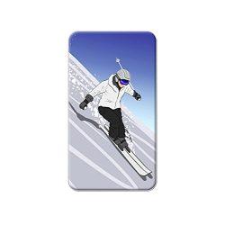 Skiing Down a Mountain – Skier Snow Skis Metal Lapel Hat Shirt Purse Bag Pin Tie Tack Pinback
