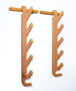 Grassracks Bamboo Ski Rack for 4 or 5 Pairs of Skis Hallsteiner Pro