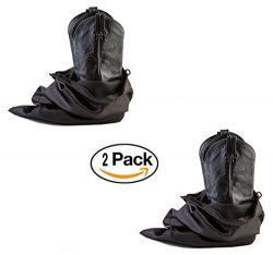 Travel and Storage Boot Bags, Cowboy Boot Bag, Made of Strong Water Proof Ballistic Nylon w/ Loc ...