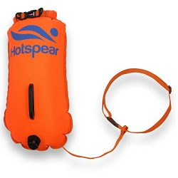 Swim Buoy Dry Bag HOTSPEAR for Open Water swimmers and Triathletes Swimming Tow Float Durable Ny ...