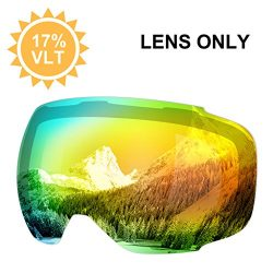 ENKEEO Ski Goggles Replacement Lenses Anti-fog 100% UV400 Protection for Skiing Snowboarding Sno ...
