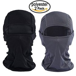 Purjoy [2-Pack] Wind-Resistant Balaclava Ski Mask Face Mask Motorcycle Tactical Balaclava Hood(B ...