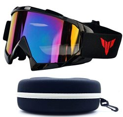 (#Goggle-Blk) One Stop Discount Shop Newest Sharp Designer Unisex Men Women Ski Goggles Winter S ...